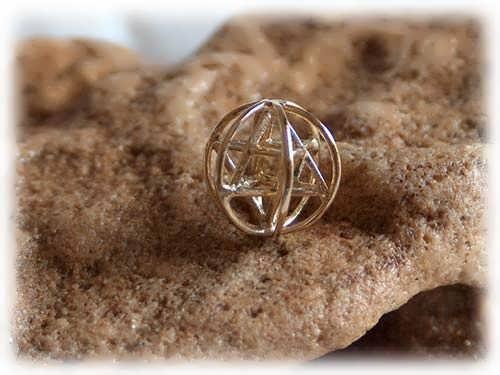 Merkaba prana sphere small - gold